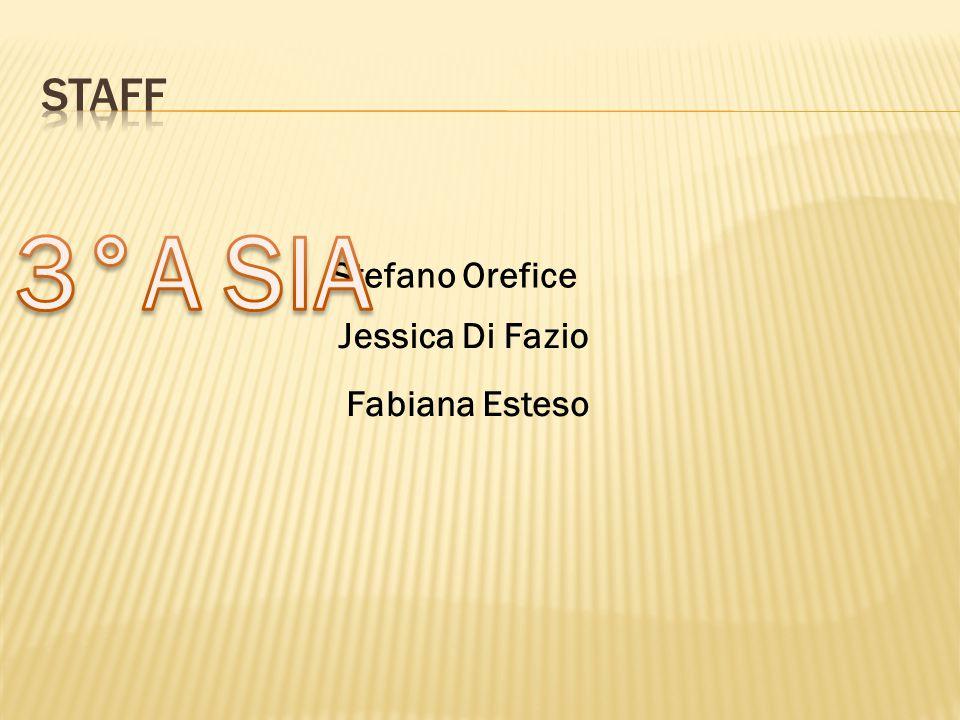 Staff 3°A SIA Stefano Orefice Jessica Di Fazio Fabiana Esteso