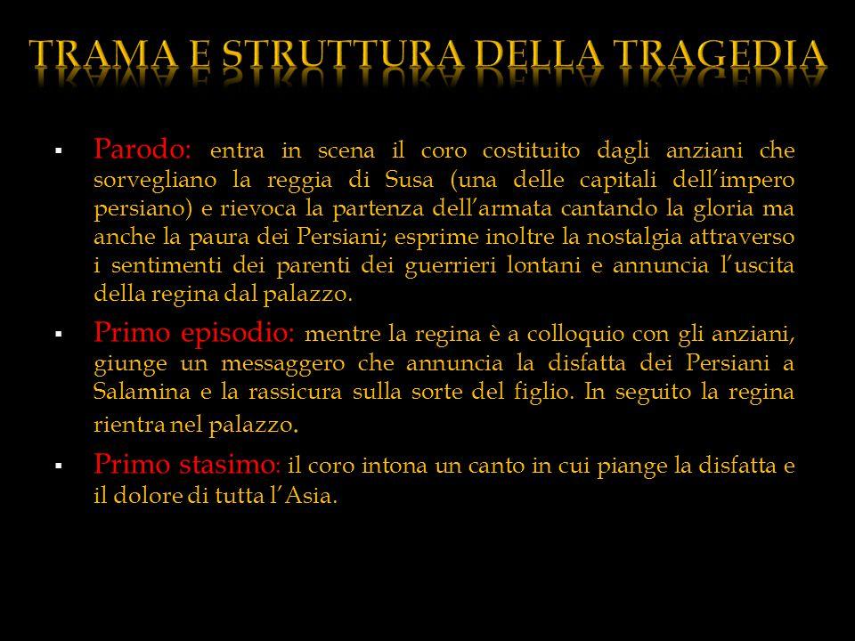 TRAMA E STRUTTURA DELLA TRAGEDIA