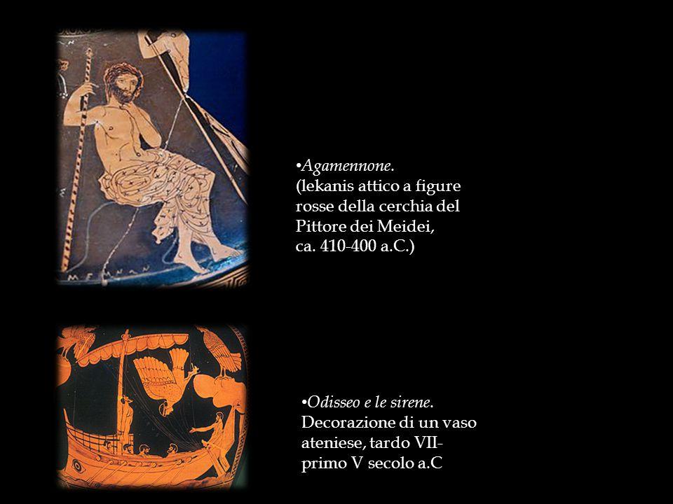 Agamennone. (lekanis attico a figure rosse della cerchia del Pittore dei Meidei, ca. 410-400 a.C.)