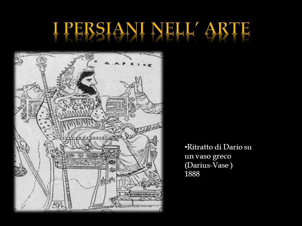 I PERSIANI NELL' ARTE Ritratto di Dario su un vaso greco