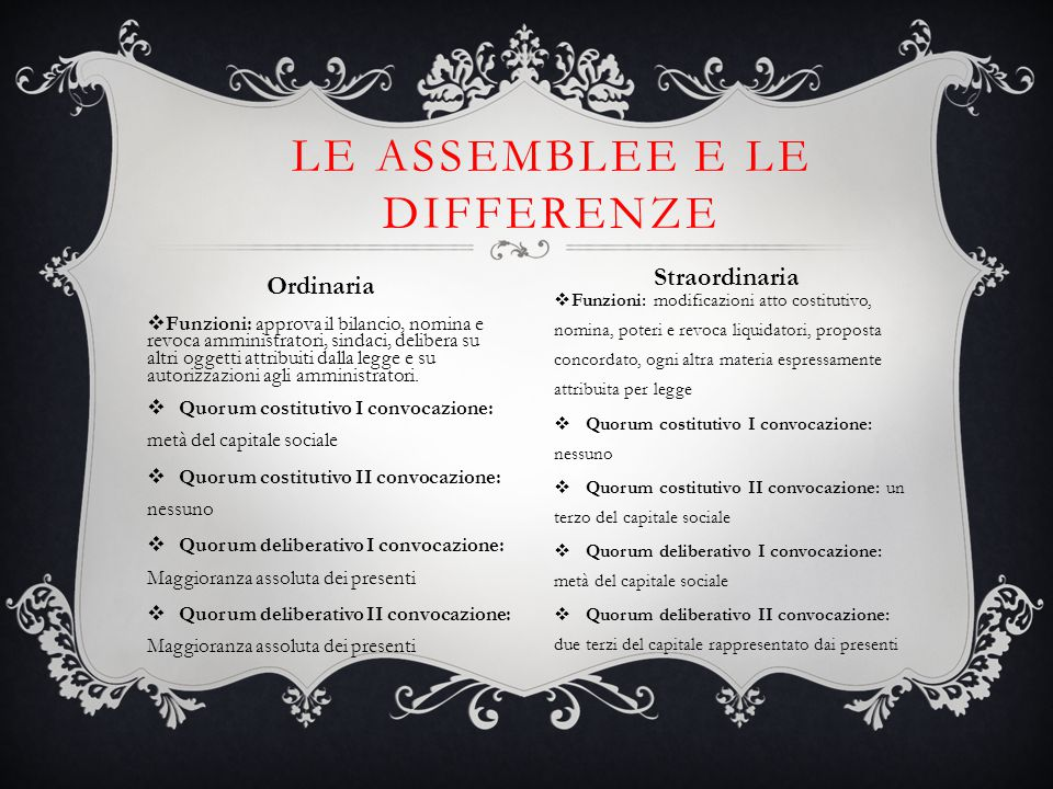 Le assemblee e le differenze