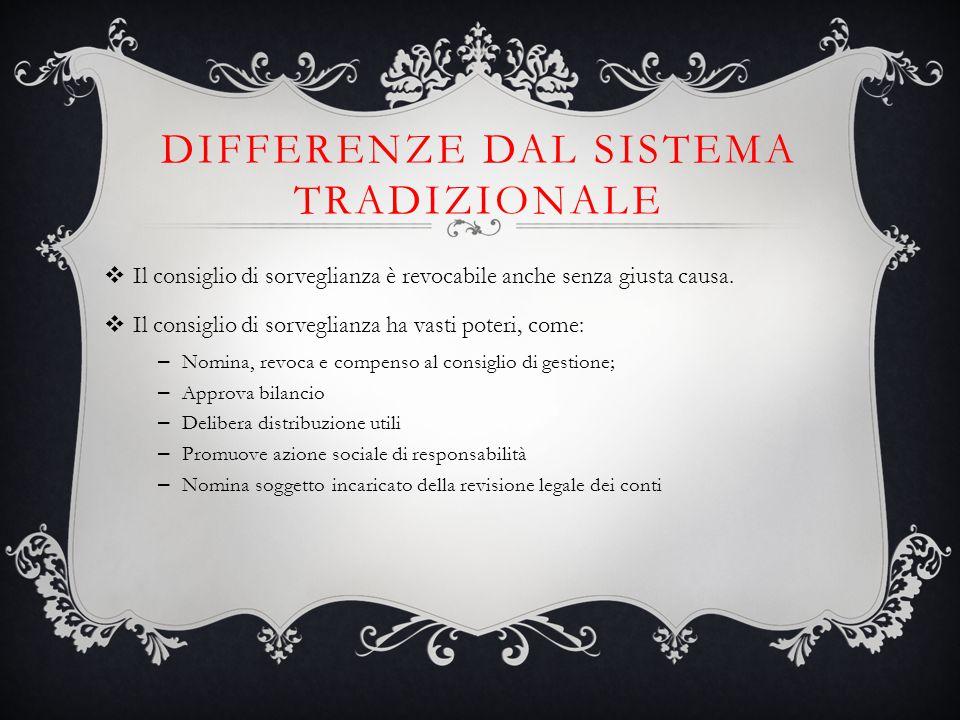 Differenze dal sistema tradizionale