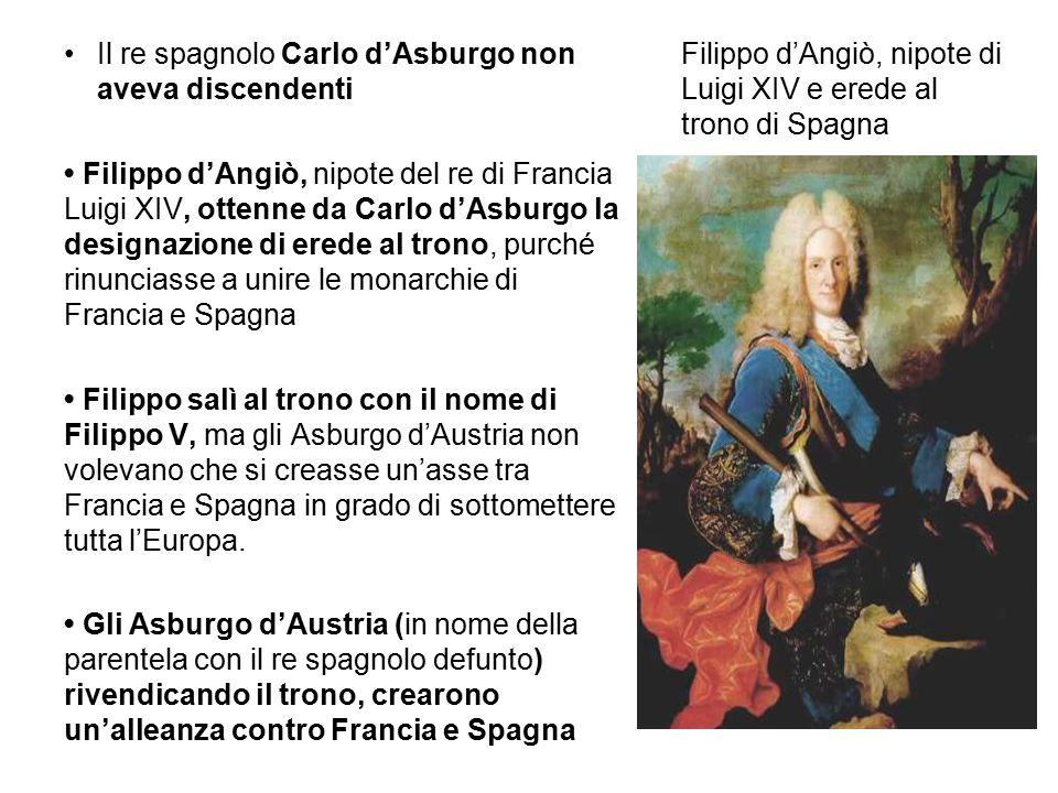 Filippo d'Angiò, nipote di Luigi XIV e erede al trono di Spagna