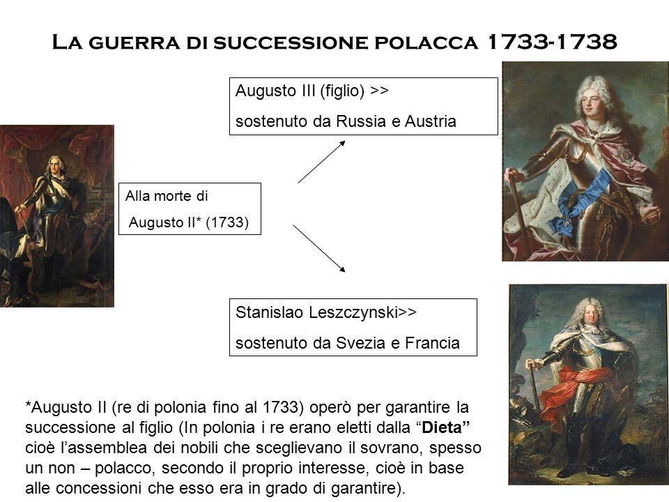 La guerra di successione polacca 1733-1738