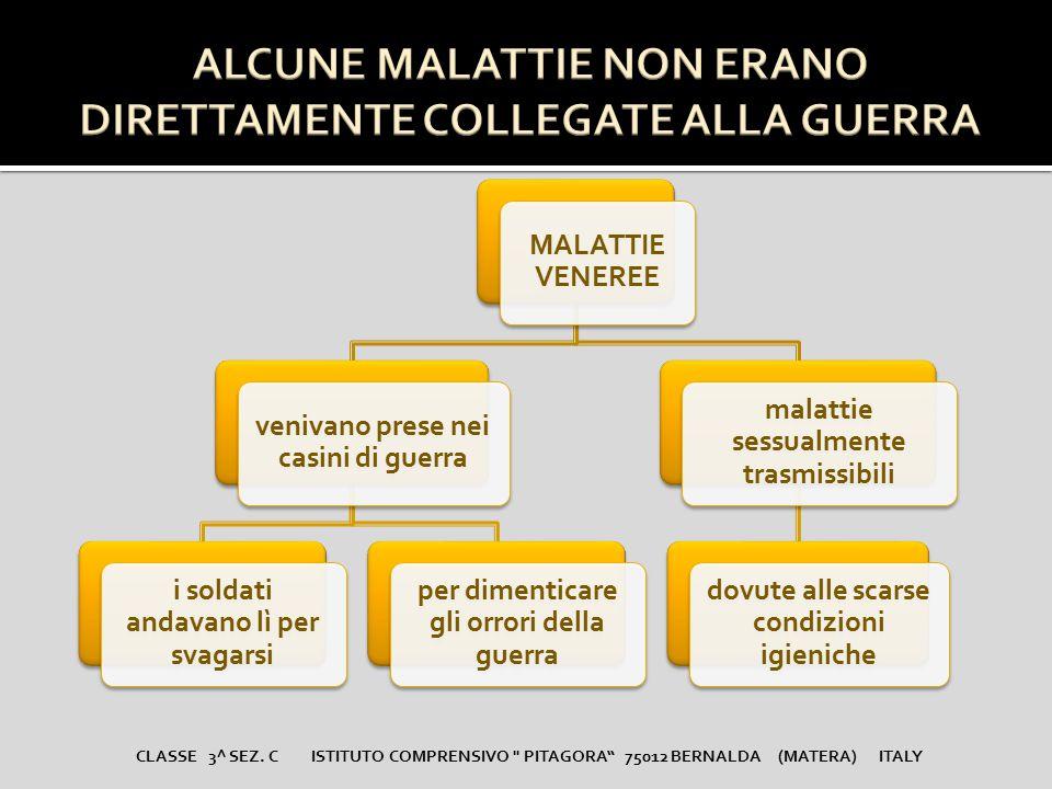 ALCUNE MALATTIE NON ERANO DIRETTAMENTE COLLEGATE ALLA GUERRA