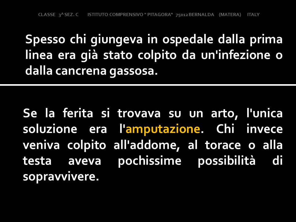 CLASSE 3^ SEZ. C ISTITUTO COMPRENSIVO PITAGORA 75012 BERNALDA (MATERA) ITALY
