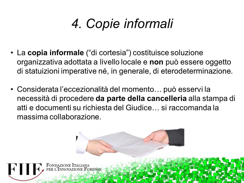4. Copie informali