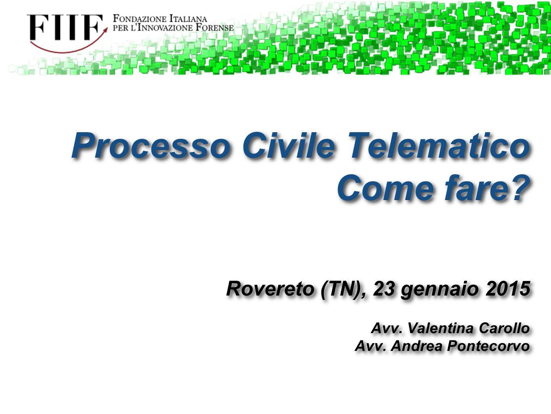 Processo Civile Telematico Come fare