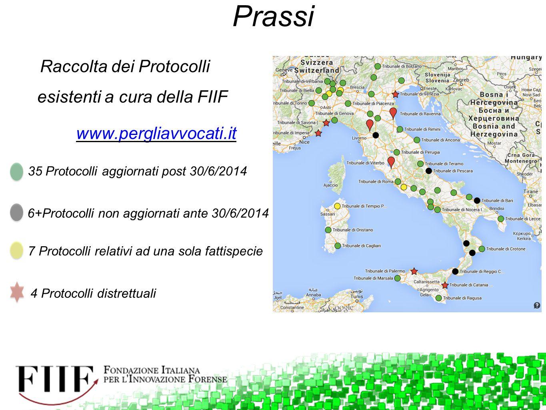 Raccolta dei Protocolli esistenti a cura della FIIF