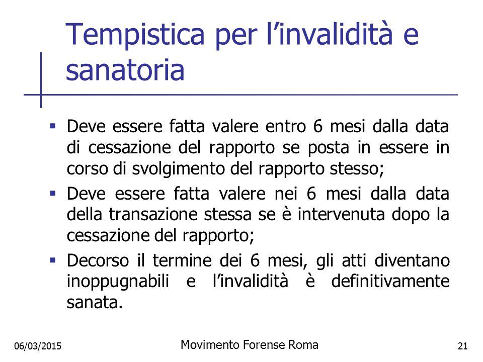 Tempistica per l'invalidità e sanatoria