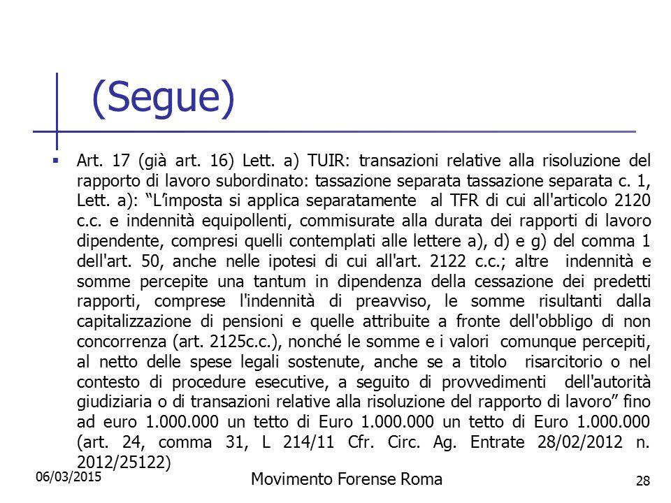 Movimento Forense Roma