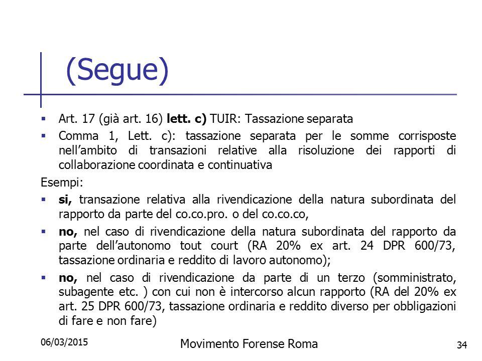 Rinunce e transazioni ex art c c ppt scaricare - Art 16 bis del tuir ...