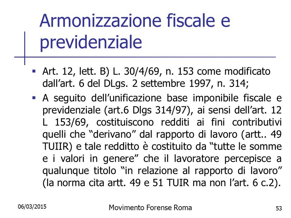 Armonizzazione fiscale e previdenziale