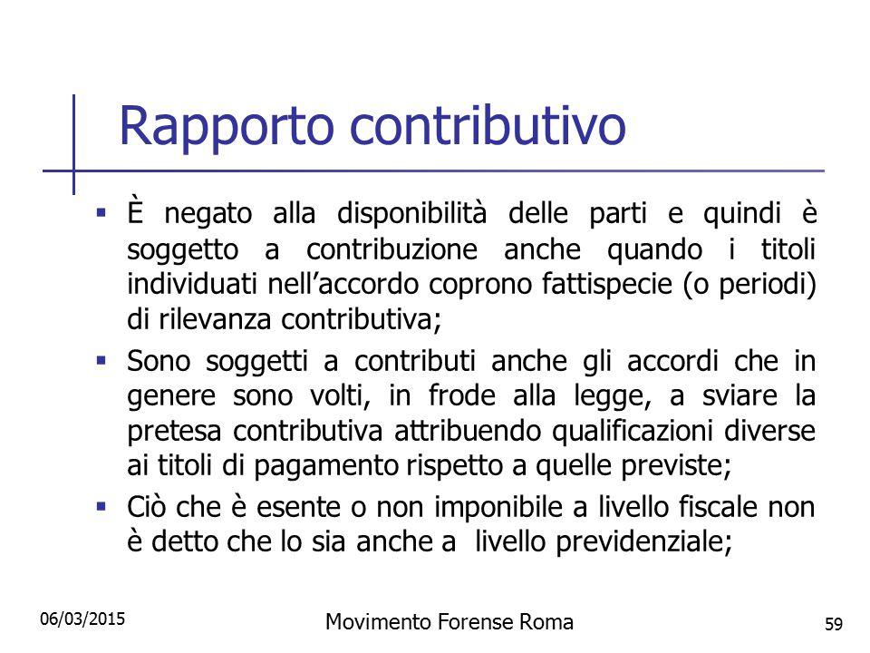 Rapporto contributivo