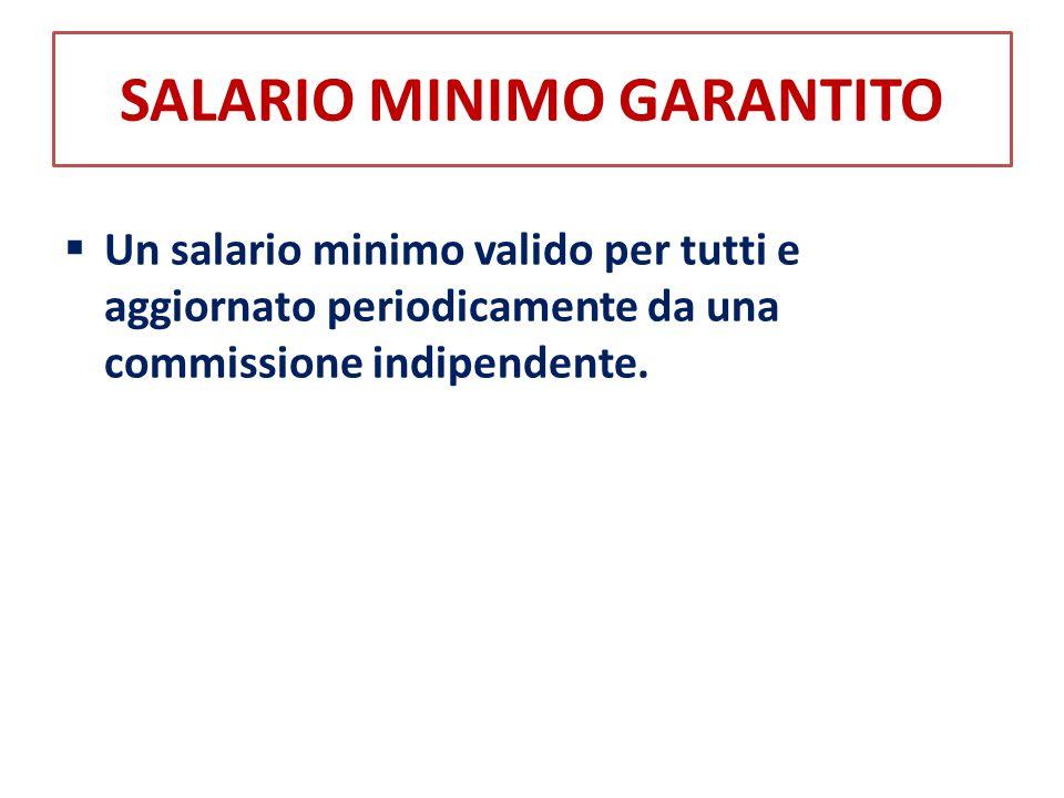 SALARIO MINIMO GARANTITO