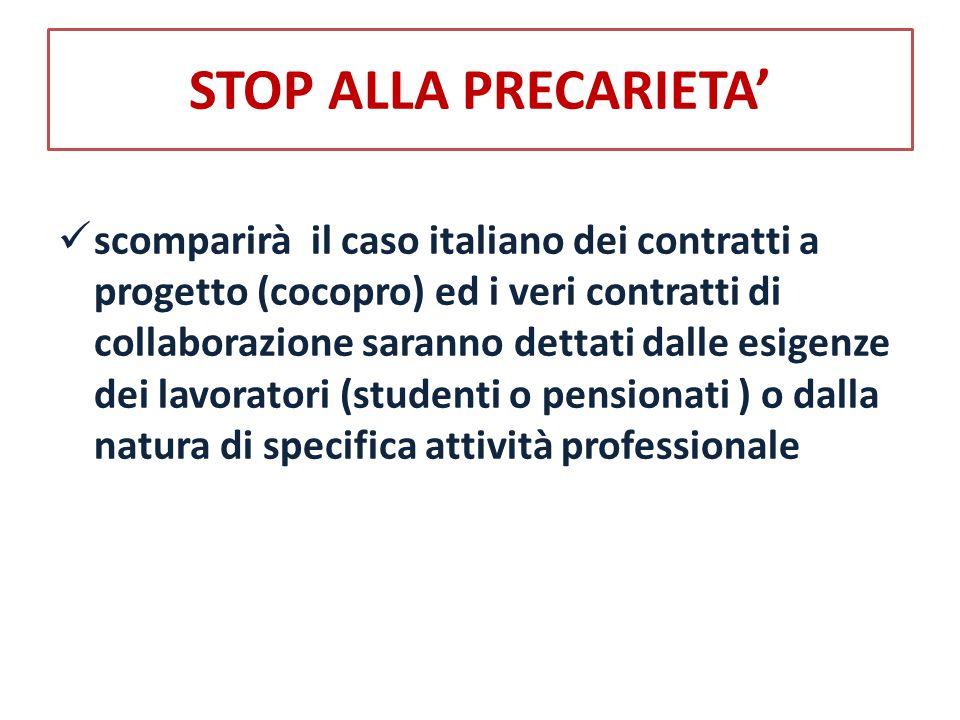 STOP ALLA PRECARIETA'