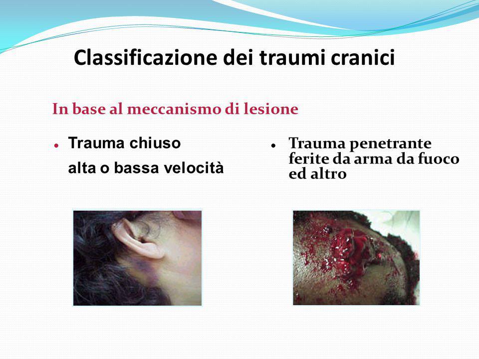 Classificazione dei traumi cranici