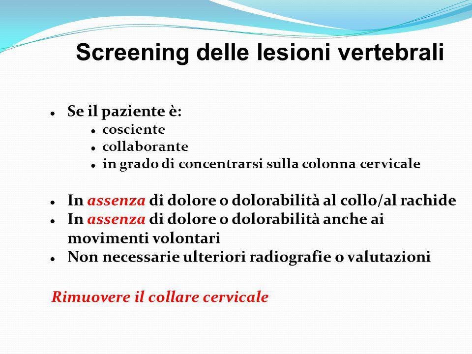 Screening delle lesioni vertebrali
