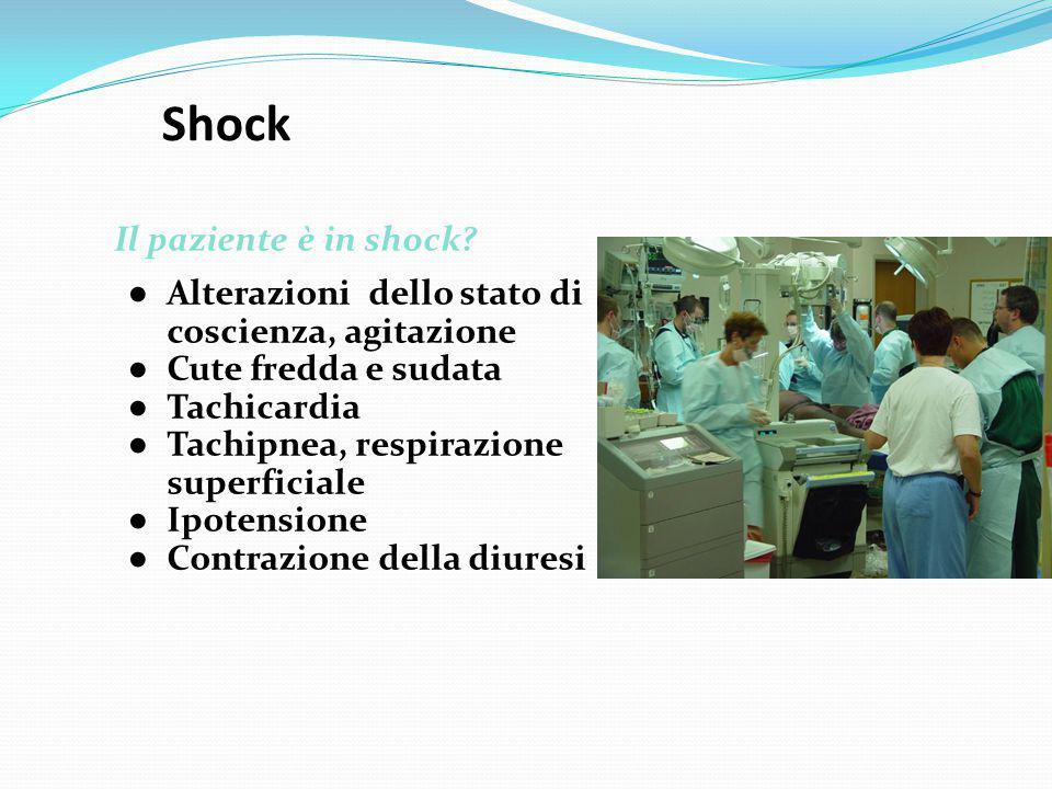 Shock Il paziente è in shock