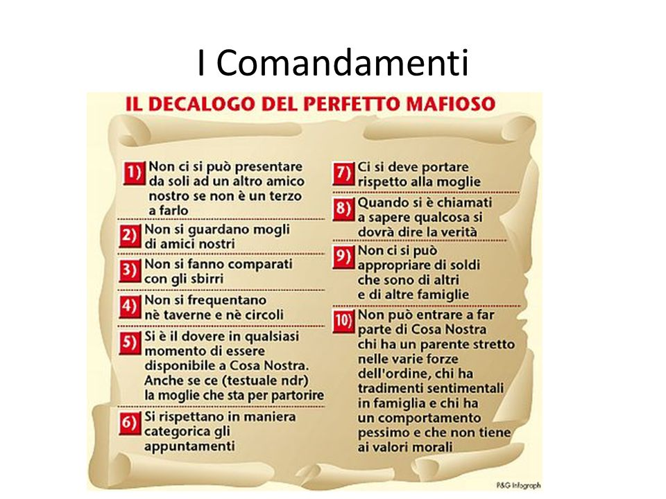 I Comandamenti