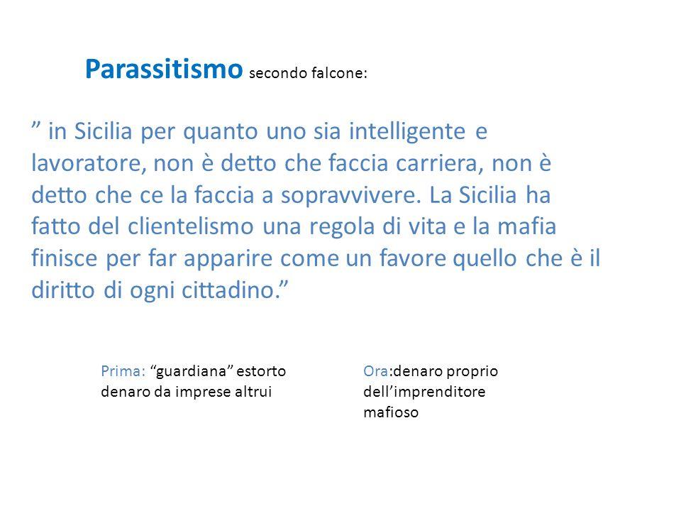 Parassitismo secondo falcone: