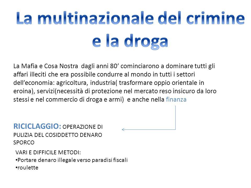 La multinazionale del crimine e la droga
