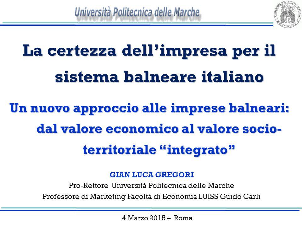 La certezza dell'impresa per il sistema balneare italiano