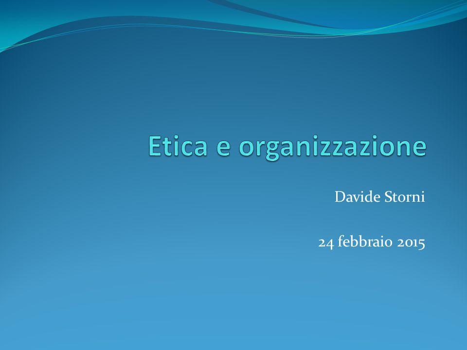 Etica e organizzazione