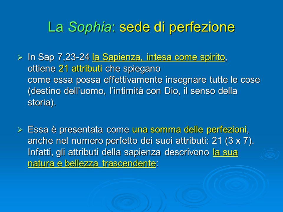 La Sophia: sede di perfezione