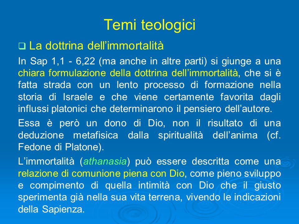 Temi teologici La dottrina dell'immortalità