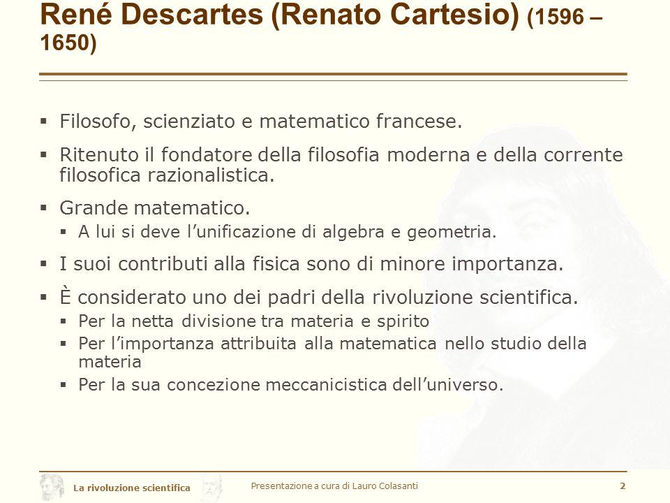 René Descartes (Renato Cartesio) (1596 –1650)