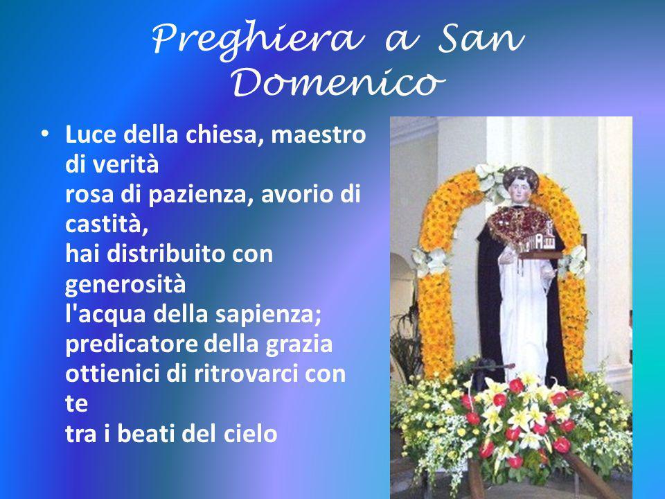 Preghiera a San Domenico
