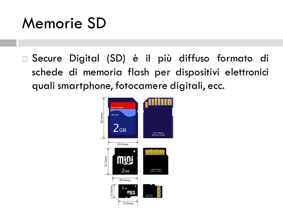 Memorie SD