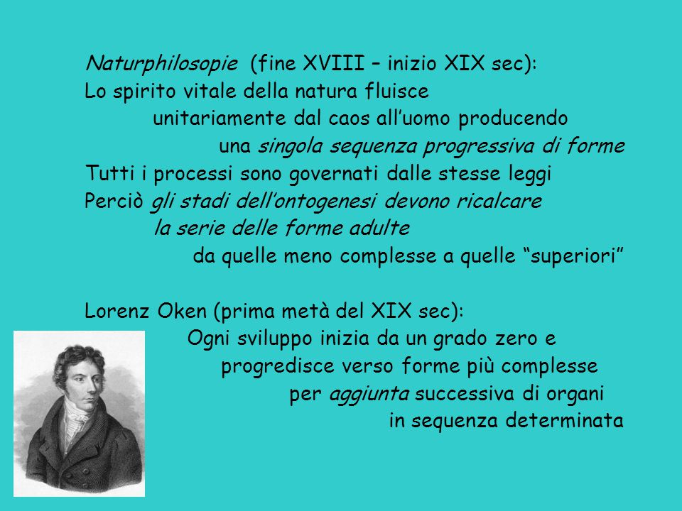 Naturphilosopie (fine XVIII – inizio XIX sec):