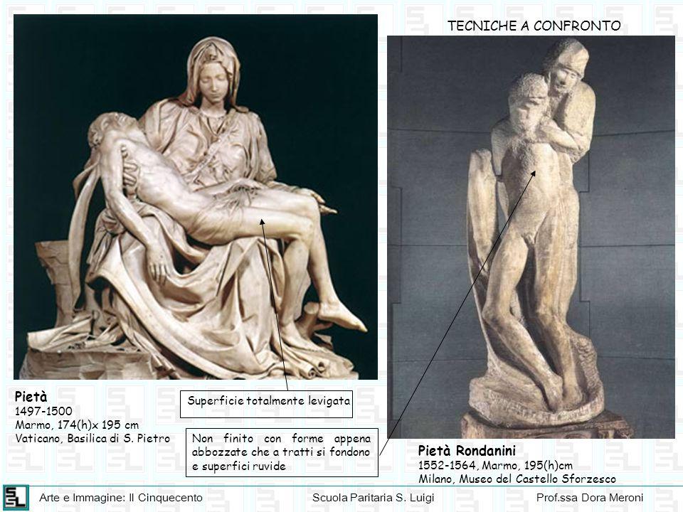 TECNICHE A CONFRONTO Pietà Pietà Rondanini