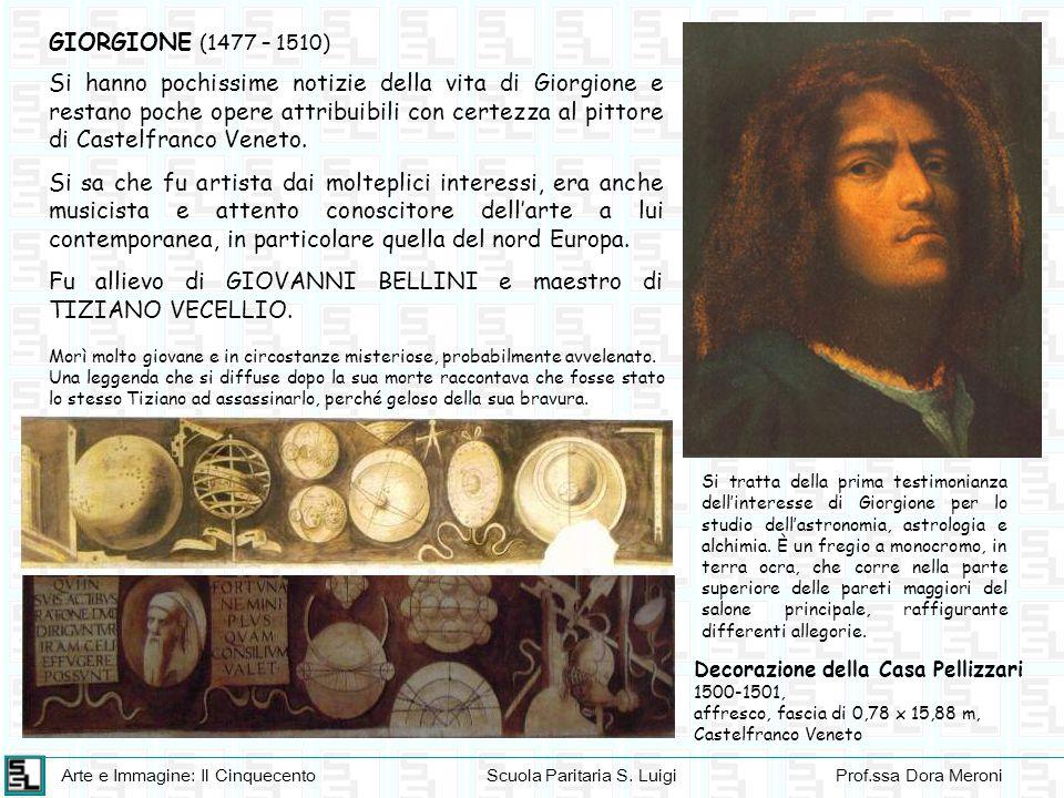 Fu allievo di GIOVANNI BELLINI e maestro di TIZIANO VECELLIO.