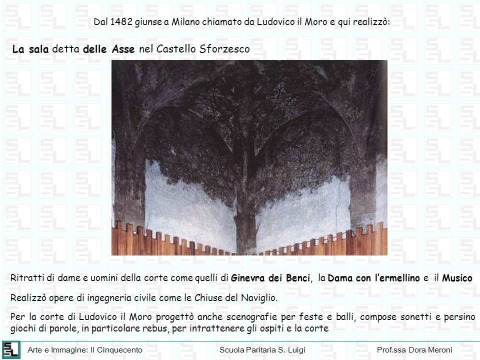 La sala detta delle Asse nel Castello Sforzesco
