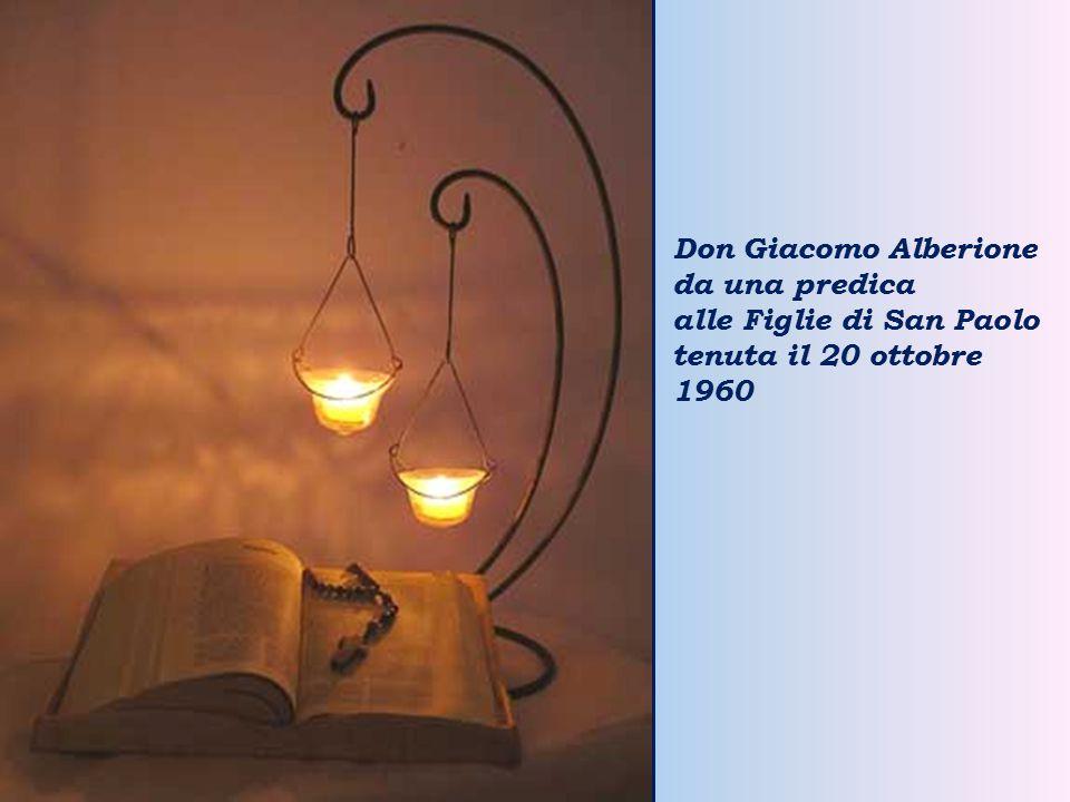 Don Giacomo Alberione da una predica alle Figlie di San Paolo tenuta il 20 ottobre 1960