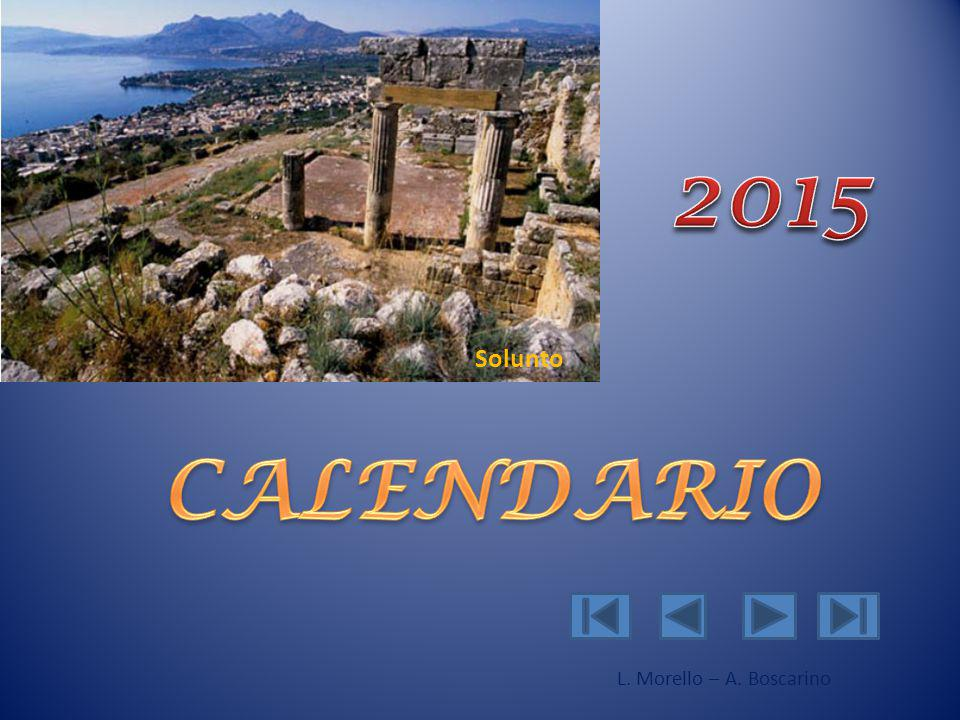 2015 Solunto CALENDARIO L. Morello – A. Boscarino