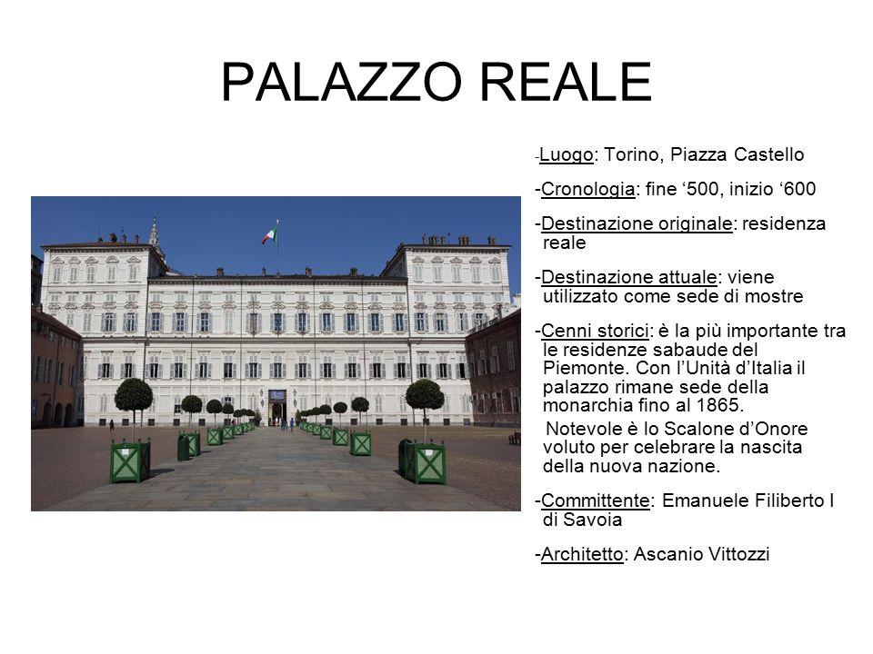 PALAZZO REALE -Cronologia: fine '500, inizio '600