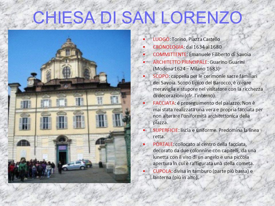 CHIESA DI SAN LORENZO LUOGO: Torino, Piazza Castello