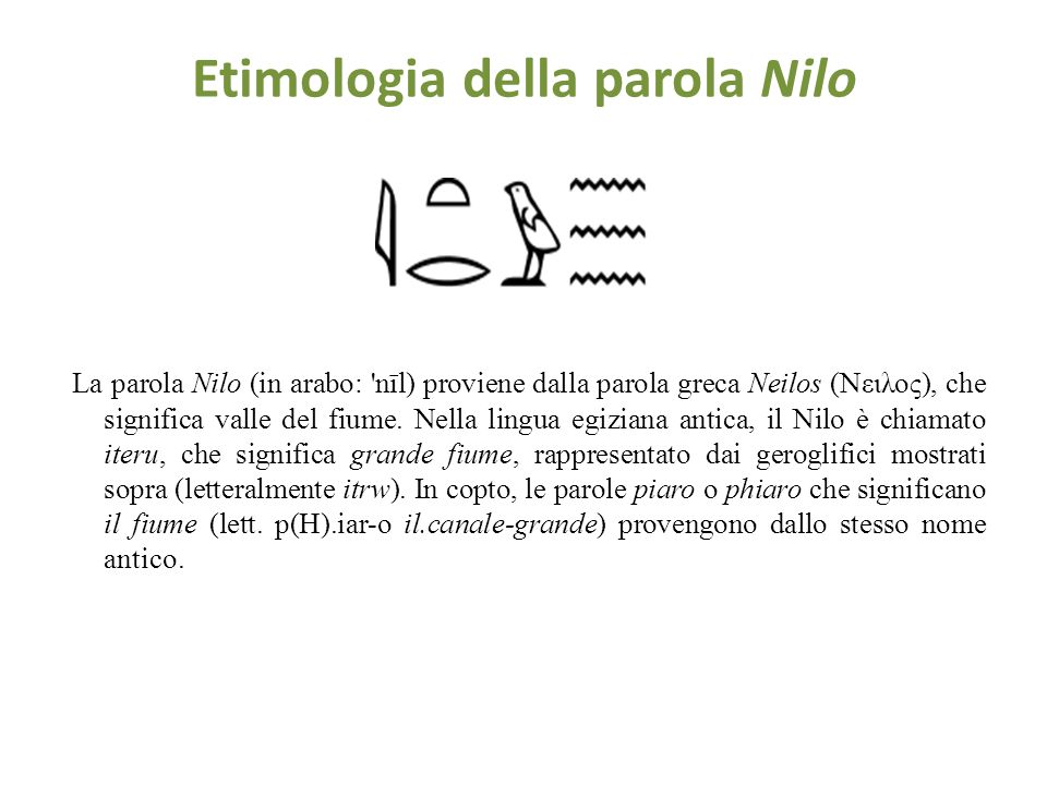 Etimologia della parola Nilo