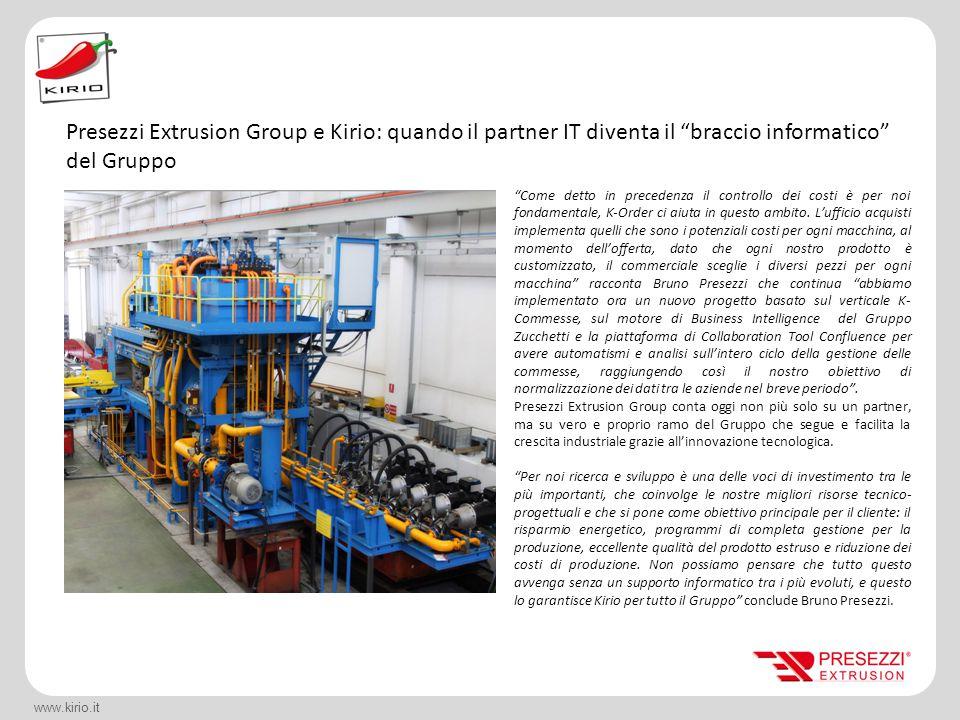 Presezzi Extrusion Group e Kirio: quando il partner IT diventa il braccio informatico del Gruppo