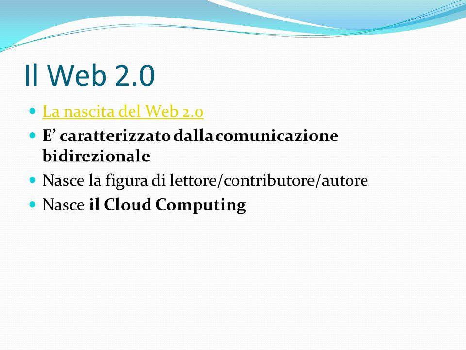 Il Web 2.0 La nascita del Web 2.0
