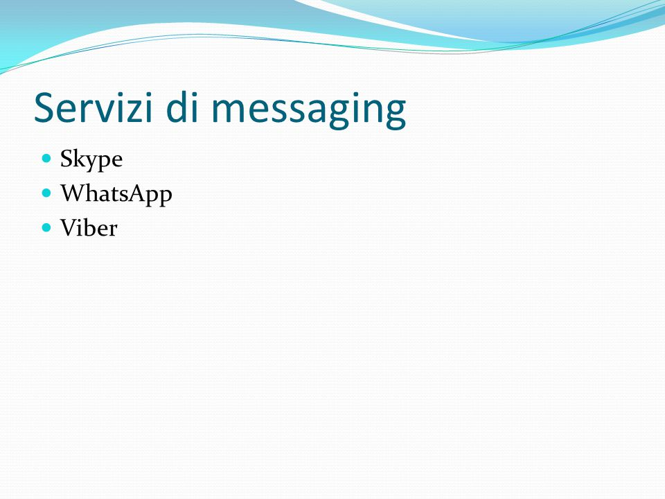 Servizi di messaging Skype WhatsApp Viber