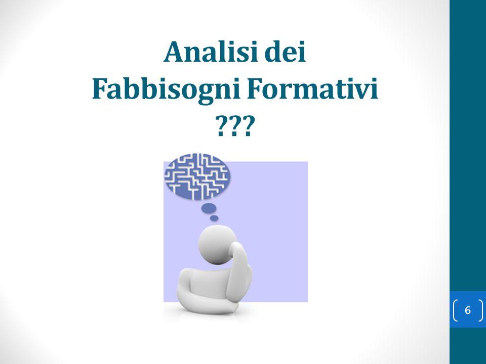 Analisi dei Fabbisogni Formativi