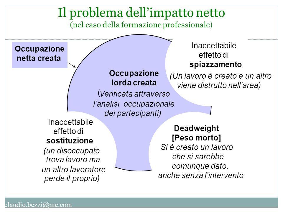 Il problema dell'impatto netto (nel caso della formazione professionale)
