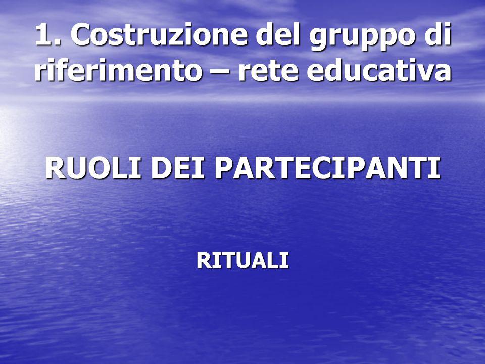 1. Costruzione del gruppo di riferimento – rete educativa