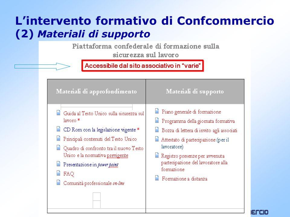 L'intervento formativo di Confcommercio (3) Corsi in modalità e-learning