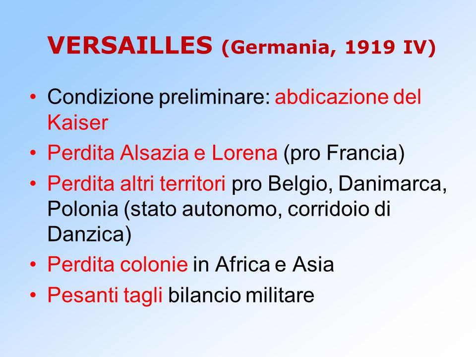 VERSAILLES (Germania, 1919 IV)